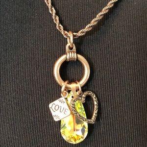 Alex and Ani Love Trio Adjustable Charm Necklace